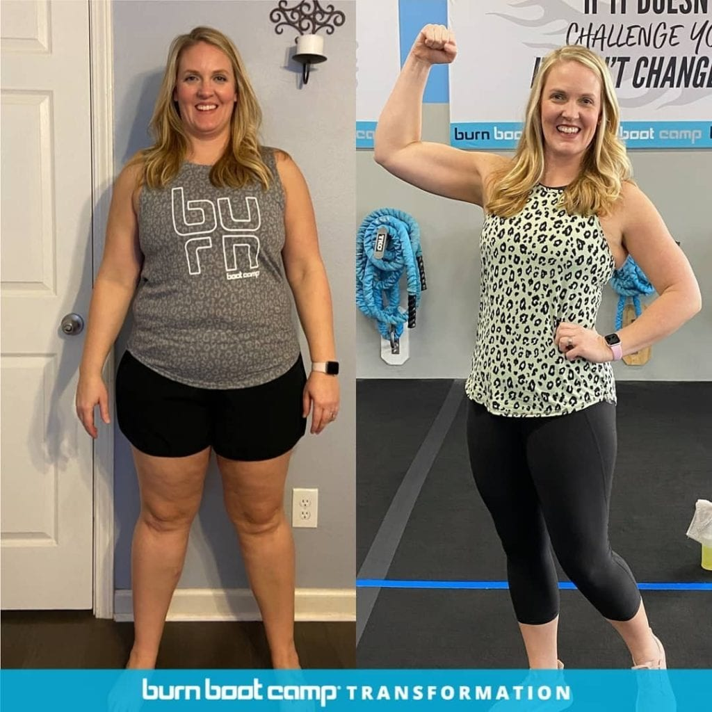 attainable Burn Boot Camp weight loss transformation before and after